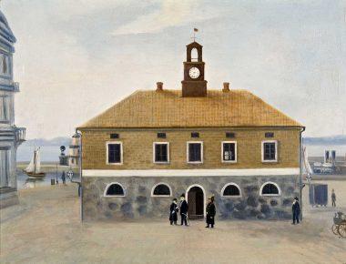 Gamla rådhus, oljemålning 1877
